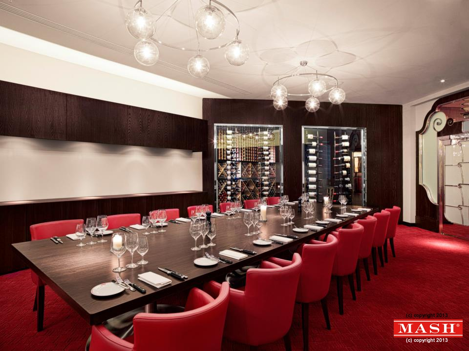 Book the modern american wine dinner at mash london the for Best private dining rooms chelsea