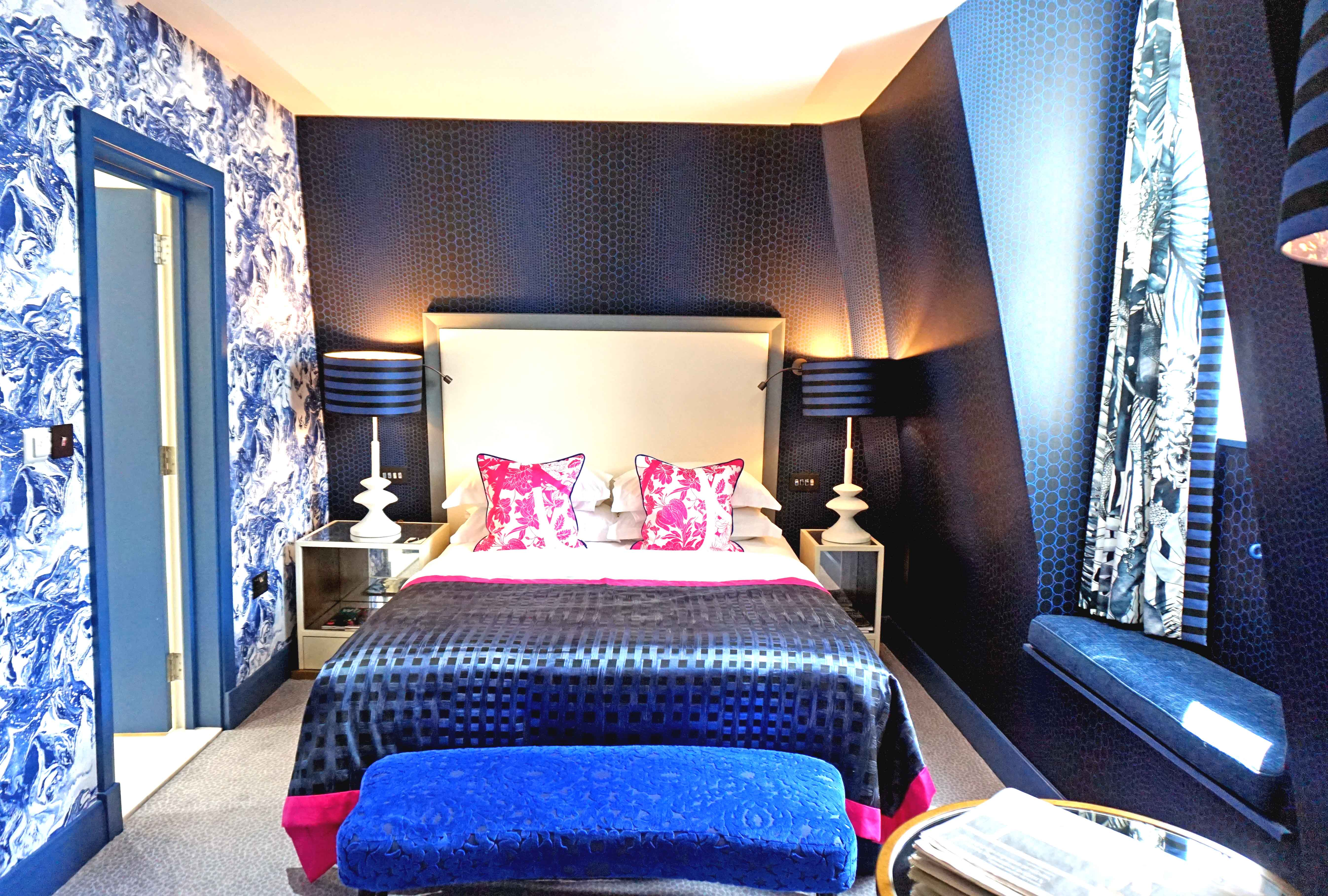 exploring the french riviera with maison christian lacroix at the mandeville hotel in london. Black Bedroom Furniture Sets. Home Design Ideas