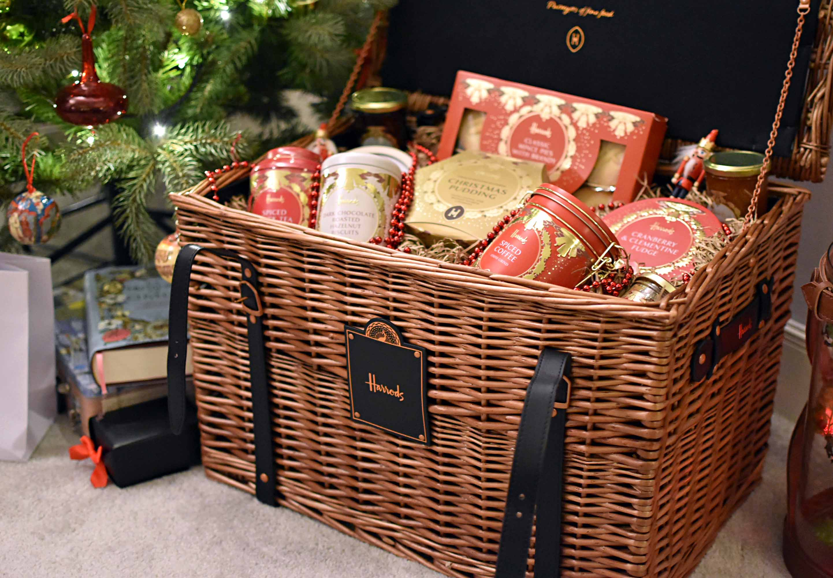 ... in my property and then of course – there's the presents. One of which was a very early surprise from Harrods in the form of a rather impressive hamper.