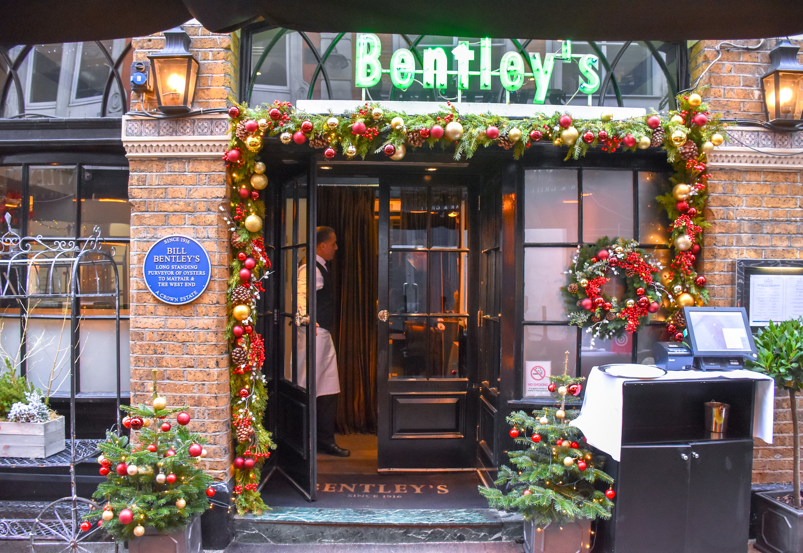 A Festive Afternoon on the Terrace at Bentley's Oyster Bar & Grill, London - The Foodaholic