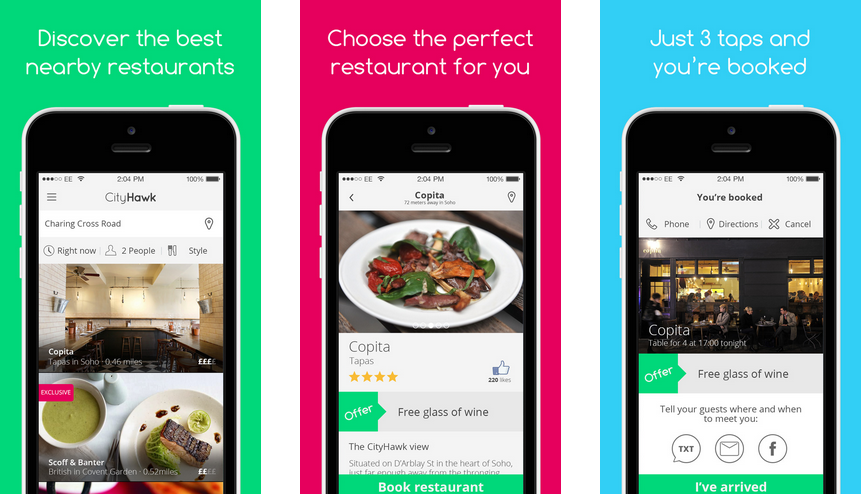 Review Cityhawk The New Mobile First Restaurant App The